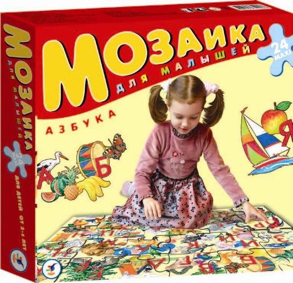 Мозаика для малышей Азбука (напольные пазлы) Дрофа. серия: мозаика для